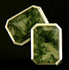 moss agate...circa 1910...the perfect links for an artistic geologist!