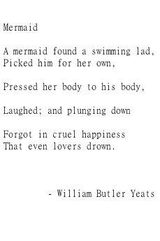 Even Lovers Drown. #poem #mermaid