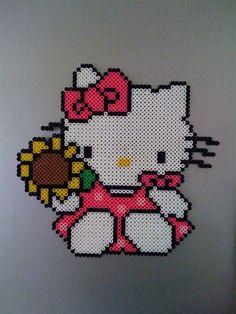 sandylandya@outlook.es  Hello Kitty sunflower perler beads by Megan T. - Perler®   Gallery
