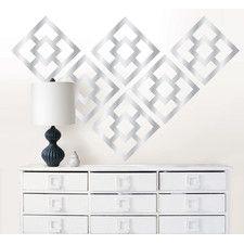 Jonathan Adler Nixon Mylar Wall Decal Kit - add pattern to benches