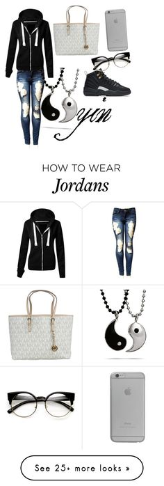 """""""yin"""" by savage-remy on Polyvore featuring NIKE, Michael Kors and Native Union"""