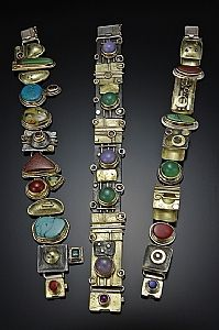 Bracelets of gold and silver