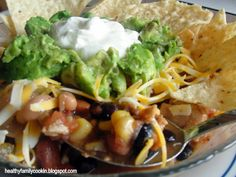 Healthy Family Cookin': Pressure Cooker Chicken Taco Soup