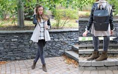 Taylor Doucette - Zara Gray Acid Wash Jeggings, H&M Checkered Button Down - Someone New- Hozier