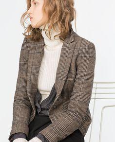 Image 2 of WOOL CHECK BLAZER from Zara
