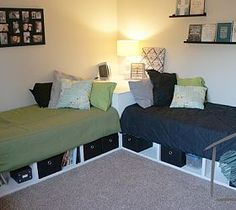 DIY Corner Storage Beds