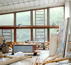 item6: Architectural Digest - Willem De Kooning's home/studio