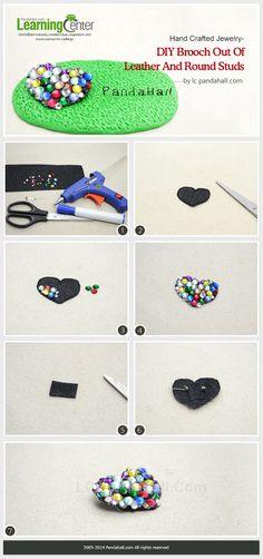 Glittering Crafts on Making DIY Heart Shaped Rhinestone Brooch