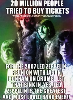 The greatest! Great Bands, Cool Bands, The Heavy Band, Led Zeppelin I, Let That Sink In, Greatest Rock Bands, Music Humor, Rock Legends, Robert Plant