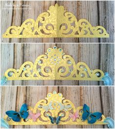 Sizzix Tutorial | Butterfly Crown by Kylie Jenkins Love this idea for making crowns from your ornate dies.