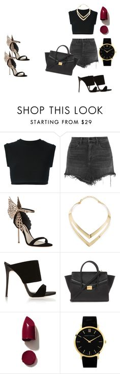 """""""Noir"""" by laurelbeauty on Polyvore featuring adidas Originals, Alexander Wang, Sophia Webster, Fortuni, Giuseppe Zanotti, Forever 21, NARS Cosmetics, Larsson & Jennings, women's clothing and women's fashion"""