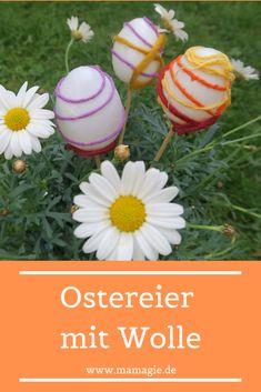 Einfach Ostereier verzieren mit Kindern als hübsche Osterdekoration.   #Ostern #DIYOstern #BastelnfürOstern #Ostereier Easter Eggs, Easter Ideas, House, Food, Craft Instructions For Kids, Meal, Haus, Hoods, Homes