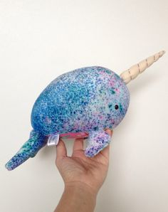 Narwhal Plush Narwhal Plushie Organic Toy by LittleLuckies2