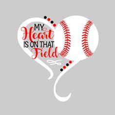 My heart is on that field svg / baseball svg / softball svg / cute baseball / cu. - My heart is on that field svg / baseball svg / softball svg / cute baseball / cut files / softball - Baseball Shirt Designs, Baseball Mom Shirts, Baseball Quotes, Sports Shirts, Baseball T, Baseball Jackets, Baseball Display, Tigers Baseball, Baseball Stuff