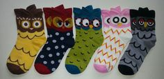 Owl themed Crew Socks! Sold by Socks & Souls where we are warming souls through soles by giving a pair of socks to someone in need with every sock purchase! Visit socksandsouls.com today and warm souls, and soles, the simple way!