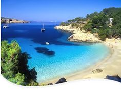 Ibiza, Spain..i WILL travel here one day, only I'll look a lot more like Sophia vergara, and be sunbathing nude.