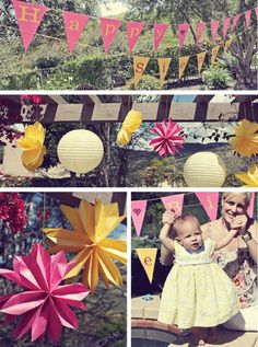 "We adore this ""You Are My Sunshine"" first birthday party celebration filled with sweet treats and adorable moments."