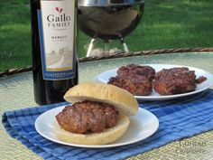 Add some class to your summer cook-out with a flavorful Cheddar Merlot Burger.