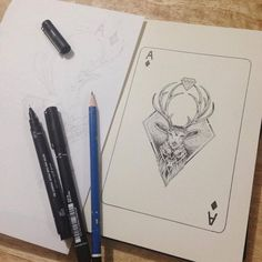 Four Aces Diamonds Sketchy Stories by Kerby Rosanes