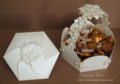 """""""Party Favor Basket and Invitation"""" using  Spellbinders die templates."""