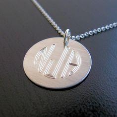 GINA personalized monogram engraved necklace