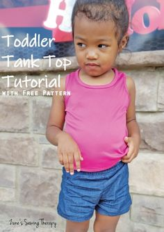 Toddler Tank Top Tutorial with Free Pattern – Zune's Sewing Therapy Sewing Patterns For Kids, Sewing For Kids, Fabric Patterns, Tank Top Tutorial, Straight Stitch, Fashion Sewing, Fun To Be One, Free Pattern, Kids Outfits