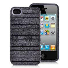Detachable Brilliant Hard Case Cover For iPhone 4S - Black
