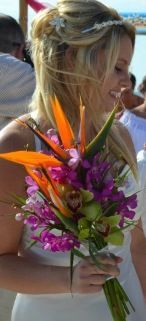 Birds of PaRaDise wedding bouquet!
