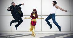 Dark Phoenix with Wolverine and Sabretooth by pchanFM.deviantart.com on @deviantART