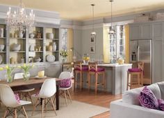 """""""I try to stay away from colors with heavy blue undertones, and I direct my clients toward warm grays that will stand the test of time,"""" say Ace design expert Katie Reynolds. """"This shade is a favorite."""""""
