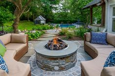 Discover DiSabatino Landscaping, providing superior landscape architecture and design services in Wilmington, Delaware. Call today for custom architectural landscape design. Landscape Architecture, Landscape Design, Wood Burning Fire Pit, Outdoor Fireplaces, Backyard, Patio, Fire Pits, Delaware, Service Design