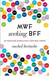 Sounds like my current life! lots of friends but none within a 200 mile radius :P MWF seeking BFF- read it and it's pretty funny!