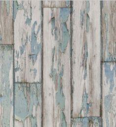 Brick & Faux Wallpaper Peeling Planks (Mineral) (W0050/03) ~ Peeling Planks