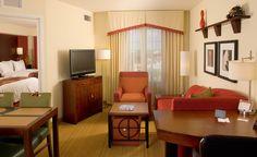 Residence Inn Ft. Myers Sanibel Hotel-Double Queens Living Area View http://www.marriott.com/hotels/event-planning/travel/rswrs-residence-inn-fort-myers-sanibel/