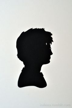 The Chosen One -- Harry Potter silhouette. -- Isabel Talsma - italsma.tumblr.com