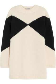 VALENTINO OVERSIZED INTARSIA WOOL SWEATER € 440 http://www.theoutnet.com/product/608437