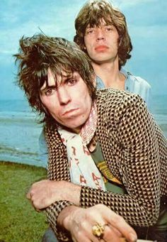 The Rolling Stones: Mick Jagger and Keith Richards, 1976.