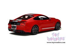 Acme | GT Spirit - Ford Mustang Shelby GT Hard Top (2015, 1/18 scale resin model car, Red/Silver) GT149