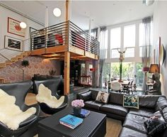 a loft is an easy way to make another bedroom or space and also have closet space underneath it
