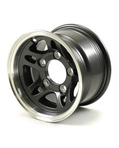 5 Lug Aluminum Trailer Wheel Gunmetal W/ Polished Lip - Snowmobile Trailers, Aluminum Trailer, Wheel And Tire Packages, Karting, New Tyres, Wheels And Tires, Aluminum Wheels, Used Cars, Really Cool Stuff