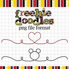 """un joli doodling """"cœur"""" pour vos créations numériques ou hybrides... """"petit plus"""" : il peut aussi servir de divider pour vos blogs et sites..."""