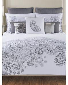 Dragon Paisley Bedding Collection -TAHARI HOME  300 Thread Count Duvet Set $16.99— $59.99 TJ Maxx
