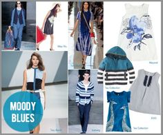 MOODY BLUES: spring 2013 mom and kid fashion trends - (cool) progeny; article by Bridget at @Wee Chic Green Spring Station