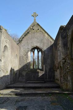 Roofless church in England.