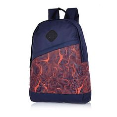 Navy contour print backpack