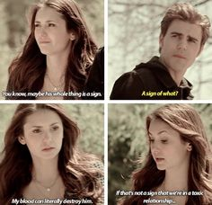 stelena 5x21 elena said her relationship with damon is toxic. delena is abusive and toxic guys.