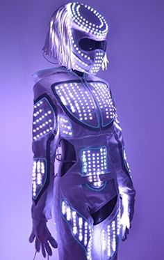 HolleywebTM Luminous LED Robot Clothing Dance Costume Led Robot Suit For Night Clubs Parties Rave EDM Halloween