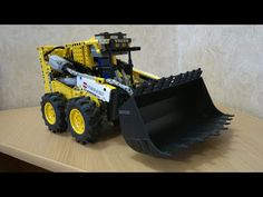 Lego Technic bobcat. - YouTube Lego Technic, Monster Trucks, Vehicles, Youtube, Car, Youtubers, Youtube Movies, Vehicle, Tools