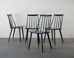 Tapiovaara Style Dining Chairs: Amsterdam Modern