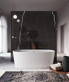 Banheiro Masculino: +90 Projetos e Dicas Originais para 2020 Bathroom Design Luxury, Bath Design, Modern Bathroom, Small Bathroom, Black Marble Bathroom, Bathroom Ideas, Cheap Bedroom Decor, Cheap Home Decor, Bad Inspiration